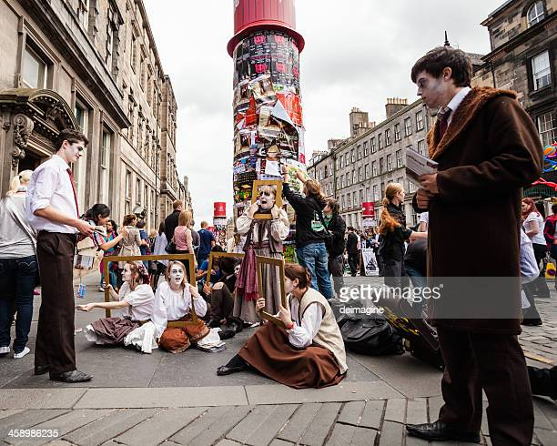 Buskers on Royal Mile, Fringe Festival in Edinburgh