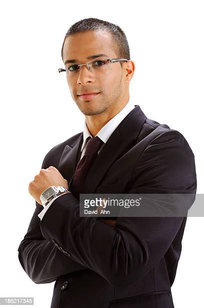Bussiness man on white background