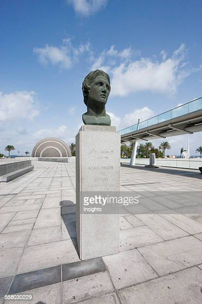 Bust Of Alexander The Great By The Bibliotheca Alexandrina The Modern Library Of Alexandria Alexandria Al Iskandar