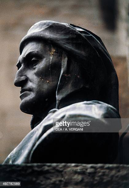 Bust of Dante Alighieri by Augusto Rivalta Dante's House Museum Florence Tuscany Italy