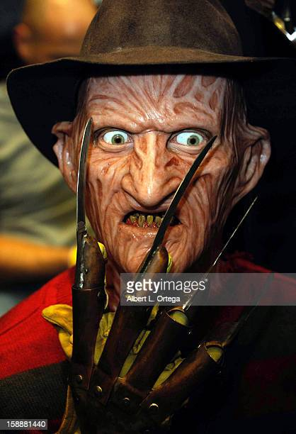 A bust of Freddy Krueger from 'A Nightmare On Elm Street' at Son Of Monsterpalooza held at Burbank Marriott Airport Hotel Convention Center on...