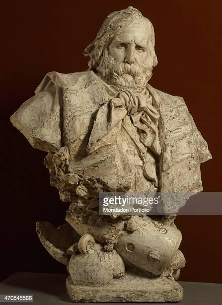 'Bust of Garibaldi by Ercole Rosa 19th Century gypsum 120 x 80 x 55 cm Italy Lazio Rome National Gallery of Modern and Contemporary ArtGNAM Whole...
