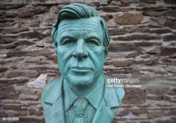 A bust of Senator Ted Kennedy unveiled at the Kennedy family homestead in Dunganstown Co Wexford as part of a celebration to mark the 50th...