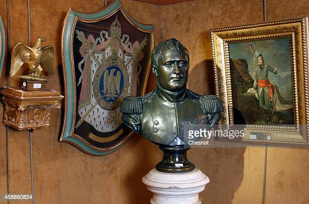 A bust of the French Emperor Napoleon from the Napoleonic collection of the Palais de is displayed on November 12 2014 in Fontainebleau France The...