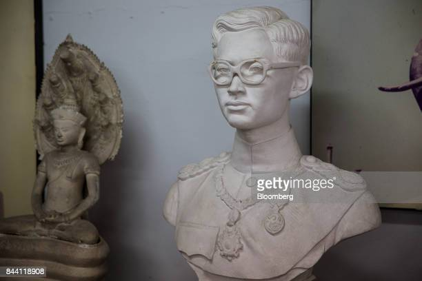 A bust of the King Bhumibol Adulyadej sits on display at the Fine Arts Department in Bangkok Thailand on Friday Sept 8 2017 The Kingdom of Thailand...