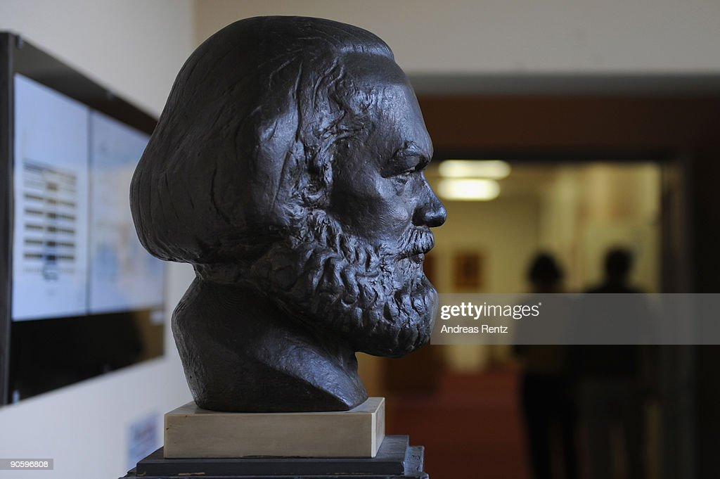 A bust of the philosopher social scientist historian and revolutionary Karl Marx is pictured at the documentation centre of the former east Germany's...