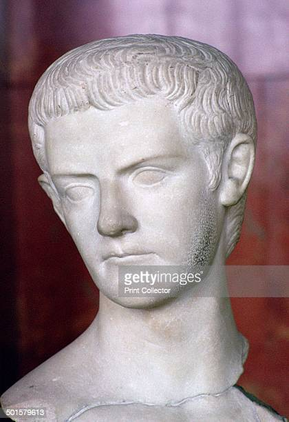 Bust of the Roman emperor Caligula from Thrace from the Louvre's collection 1st century