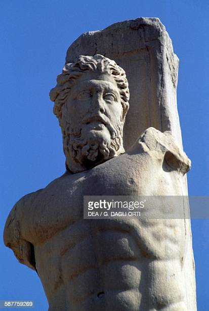 Bust of Triton statue in the Atrium of the Giants in the Odeon of Agrippa 1614 BC Agora of Athens Greece Greek and Roman civilisation 1st century BC