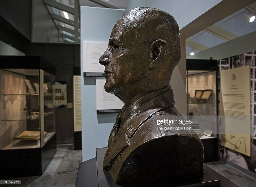 A bust of William Donovan part of a new exhibit dedicated to the OSS has opened at the CIA in house museum on October 2011 in McLean VA