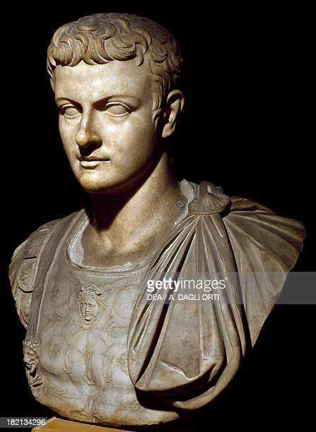 Bust of young Caligula Roman Civilisation 1st century Venice Museo Archeologico Nazionale