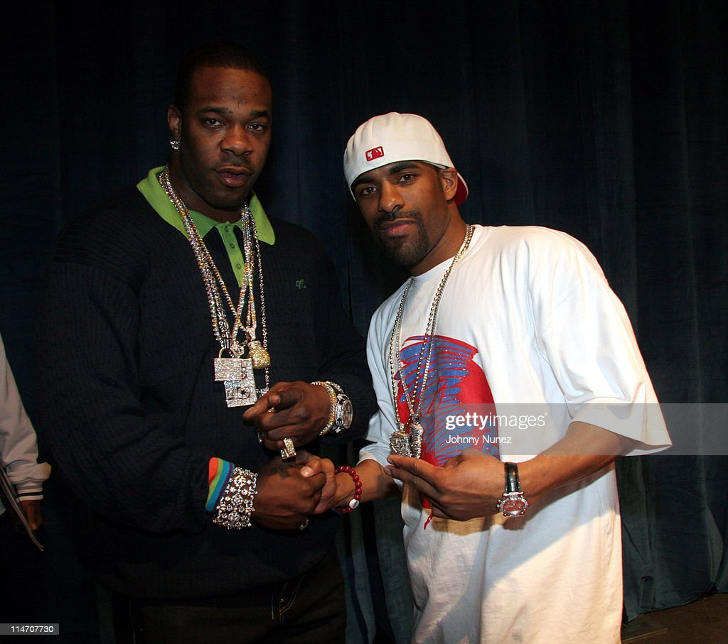 Busta Rhymes and DJ Clue during NBA Players Association Gala February 18 2006 at Houston Convention Center in Houston Texas United States