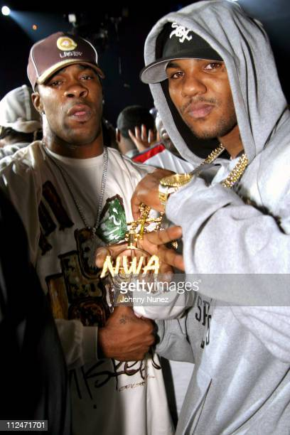 Busta Rhymes and Game during Mobb Deep Presents 'Amerikaz Nightmare' Album Release at Spirit in New York City New York United States