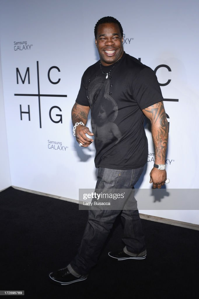 Busta Rhymes attends JAY Z and Samsung Mobile's celebration of the Magna Carta Holy Grail album, available now through a customized app in Google Play and Samsung Apps exclusively for Samsung Galaxy S 4, Galaxy S III and Note II users on July 3, 2013 in Brooklyn City.