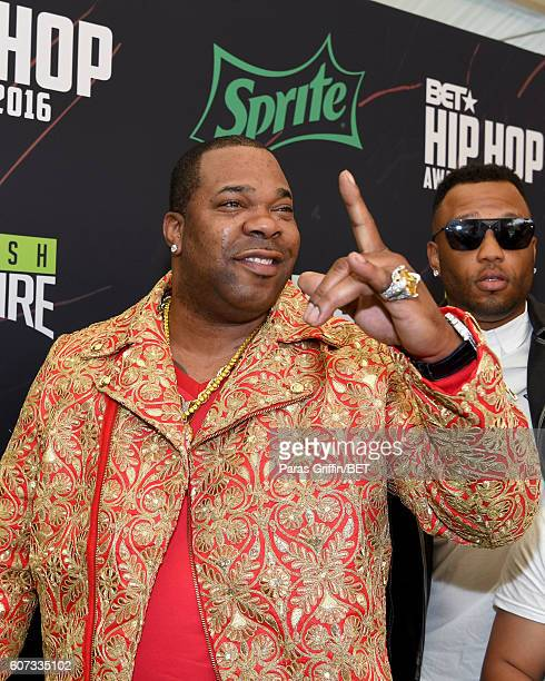 Busta Rhymes attends the BET Hip Hop Awards 2016 Green Carpet at Cobb Energy Performing Arts Center on September 17 2016 in Atlanta Georgia