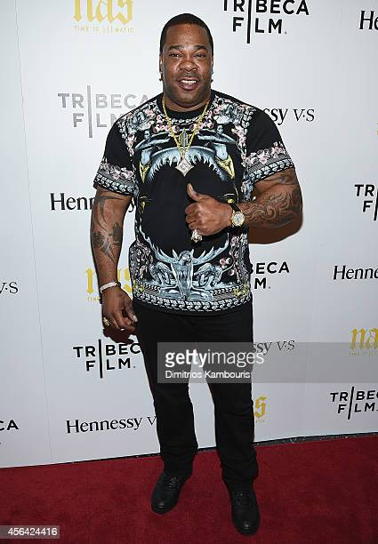 Busta Rhymes attends the 'Nas Time Is Illmatic' New York Premiere at Museum of Modern Art on September 30 2014 in New York City