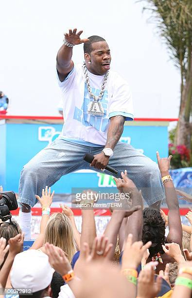 Busta Rhymes during MTV's 'Spankin' New Sounds of the Summer Week' June 2 2006 at The Wave House in San Diego California United States