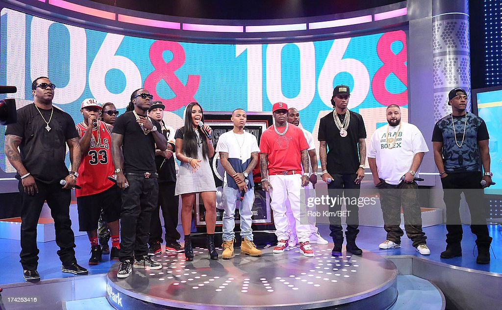 Busta Rhymes, Mac Main, Detail, Ace Hood, Gutta Gutta, Angela Simmons, Bow Wow, Birdman, Stevie J, Future, DJ Khaled and Mystikal at BET's 106 and Park at BET Studios on July 22, 2013 in New York City.