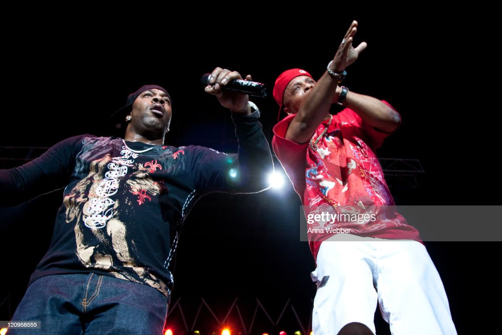 Busta Rhymes performs at 'Rock The Bells' at the San Manuel Amphitheater on August 8 2009 in San Bernardino California