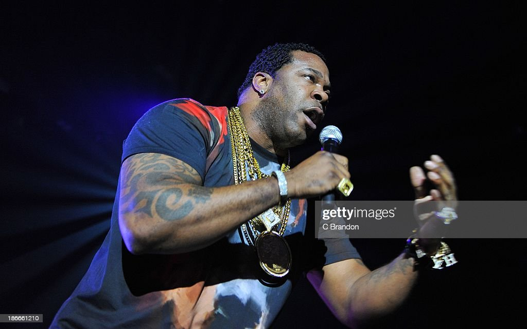 Busta Rhymes performs on stage during the Superstars Of Hip Hop concert at Eventim Apollo, Hammersmith on November 2, 2013 in London, United Kingdom.