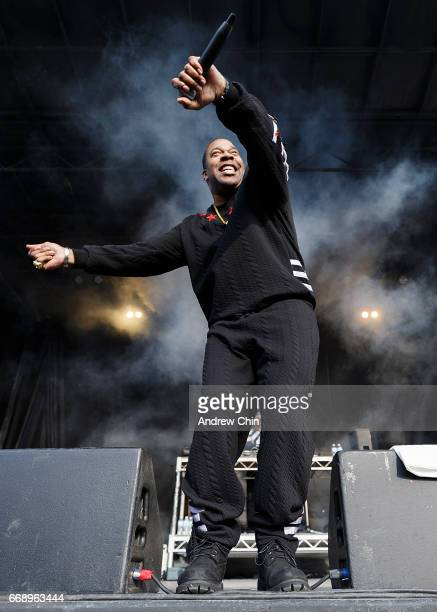 Busta Rhymes performs on stage during The World Ski And Snowboard Festival on April 15 2017 in Whistler Canada