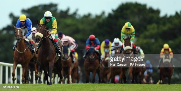 Busted Tycoon ridden by Fran Berry wins The Caulfieldindustrialcom Handicap during day two of the 2013 Galway Summer Festival at Galway Racecourse...