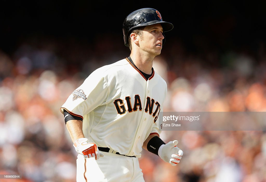 <a gi-track='captionPersonalityLinkClicked' href=/galleries/search?phrase=Buster+Posey&family=editorial&specificpeople=4896435 ng-click='$event.stopPropagation()'>Buster Posey</a> #28 of the San Francisco Giants bats against the St. Louis Cardinals at AT&T Park on April 5, 2013 in San Francisco, California.