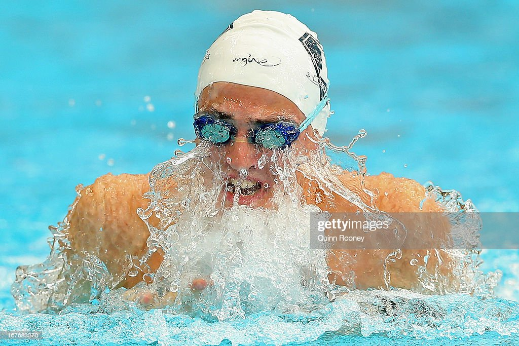Buster Sykes of Australia competes in the 50 Metre Breaststroke during day three of the Australian Swimming Championships at SA Aquatic and Leisure Centre on April 28, 2013 in Adelaide, Australia.