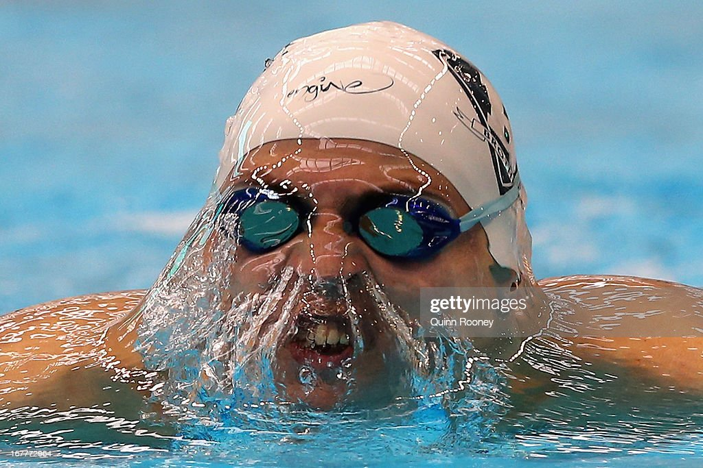 Buster Sykes of Australia competes in the Men's 200 Metre Breaststroke during day five of the Australian Swimming Championships at SA Aquatic and Leisure Centre on April 30, 2013 in Adelaide, Australia.