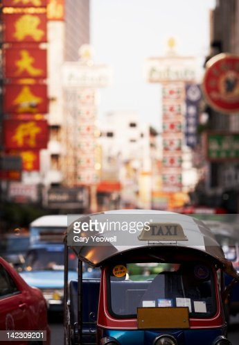 Bustling street in Chinatown,Bangkok : Stock Photo