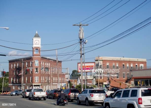 A bustling Woodfords Corner and its best known landmark Odd Fellows Hall seen from Woodford Street early Wednesday evening The intersection is going...