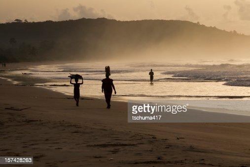 Busua Beach Silhouette