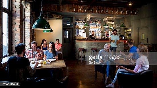 Busy Bar Scene