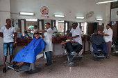 Busy barbershop
