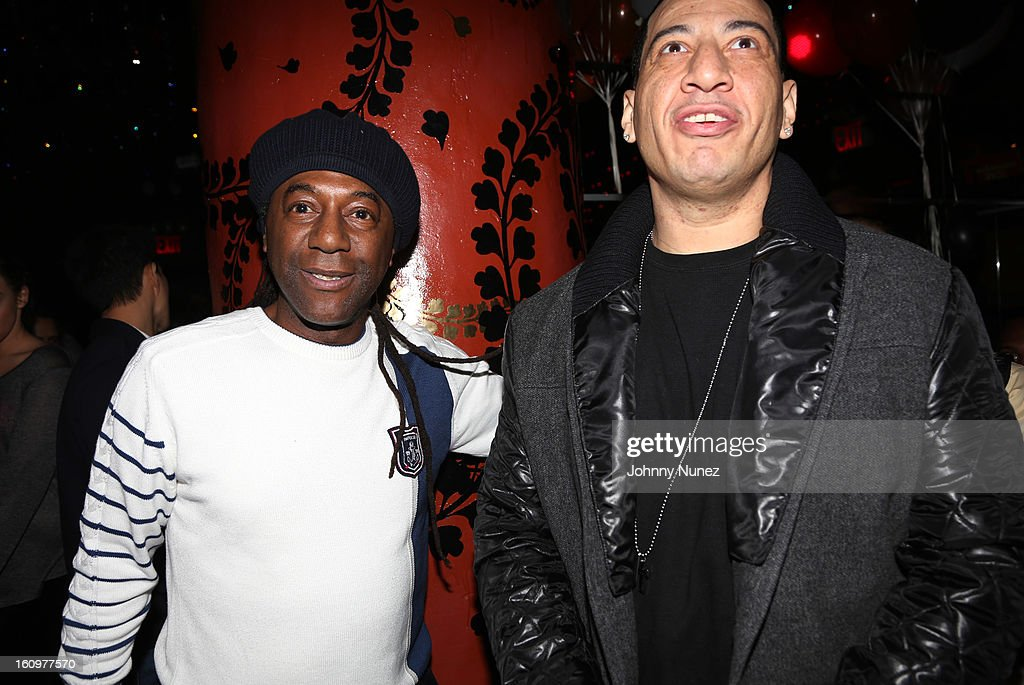 Busy Bee and <a gi-track='captionPersonalityLinkClicked' href=/galleries/search?phrase=Kid+Capri&family=editorial&specificpeople=577470 ng-click='$event.stopPropagation()'>Kid Capri</a> celebrate <a gi-track='captionPersonalityLinkClicked' href=/galleries/search?phrase=Kid+Capri&family=editorial&specificpeople=577470 ng-click='$event.stopPropagation()'>Kid Capri</a>'s birthday at Greenhouse on February 7, 2013 in New York City.