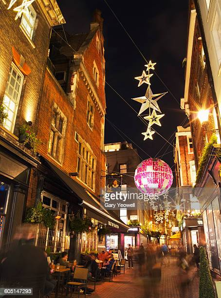 Busy Carnaby Street at Christmas