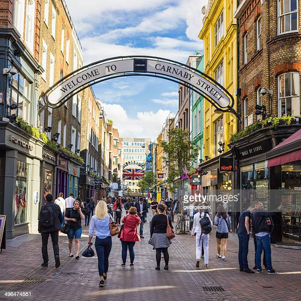 Beschäftigt Carnaby Street in London
