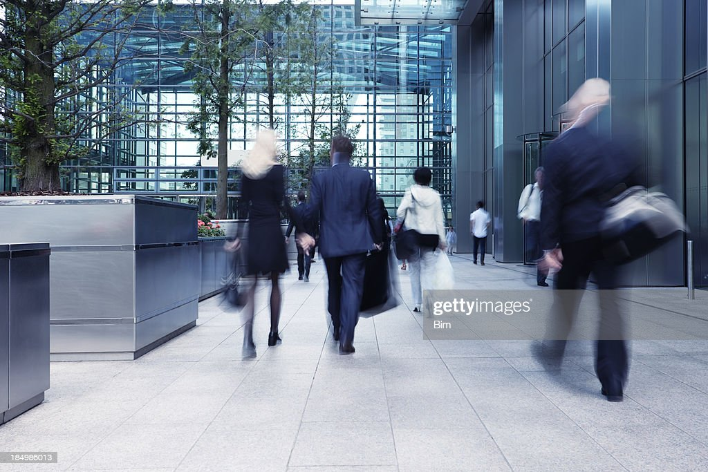 Busy Commute, Blurred Motion : Stock Photo