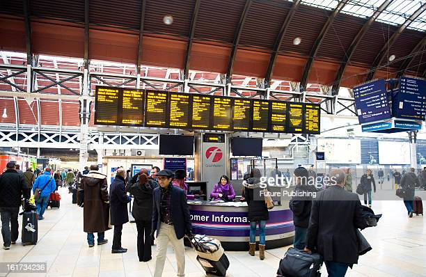 Busy commuters pass through London's Paddington Station on January 14 2013
