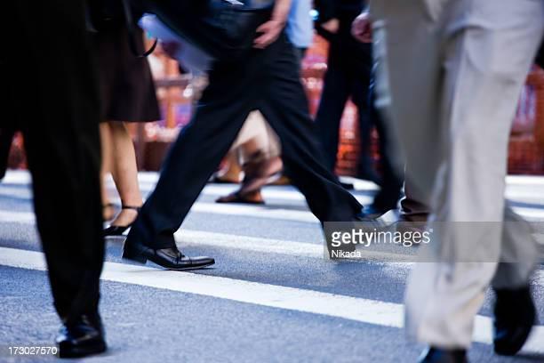 Beschäftigt Fußgängerübergang