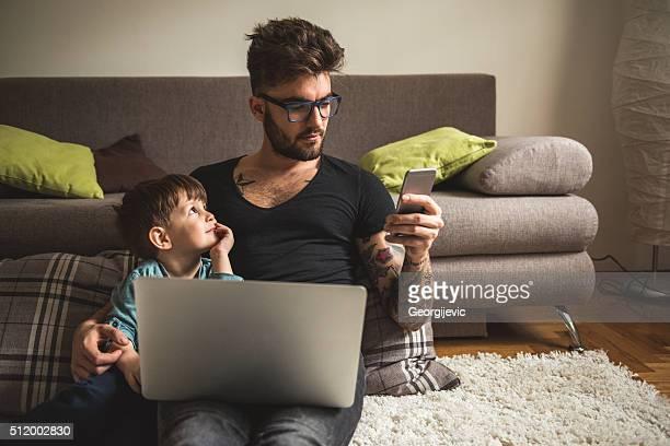 Busy daddy