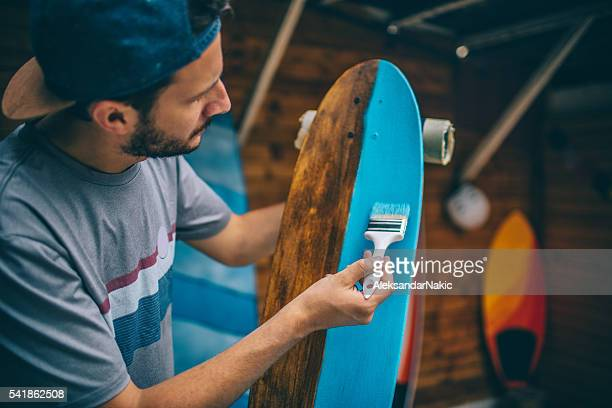 Busy day in a skateboard shop