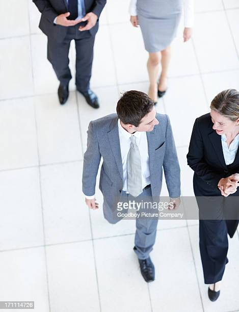 Busy executives on the go