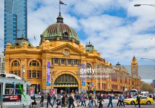 Busy Flinders Street Station