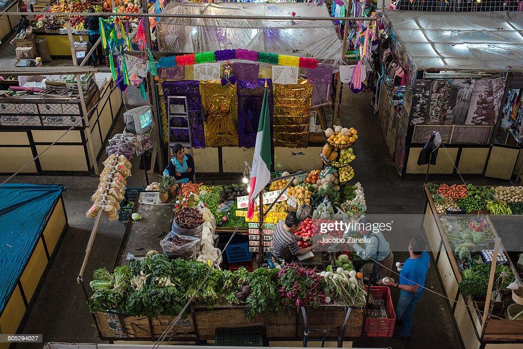 Busy Hidalgo Market , Guanajuato Historic Center