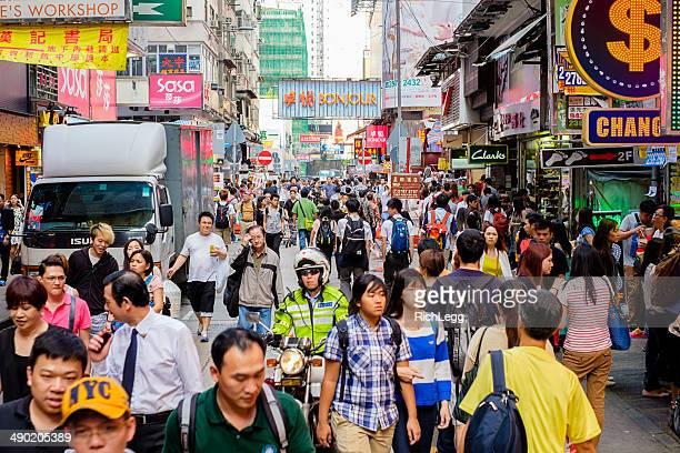 Belebten Hong Kong Street