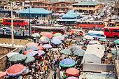 Busy market streets in Ikorodu.