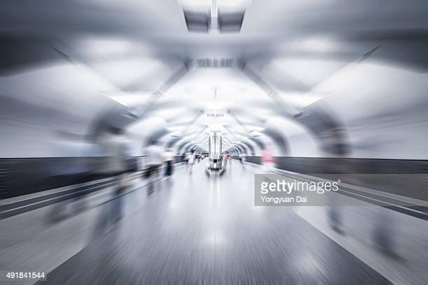 La Station de métro de travail