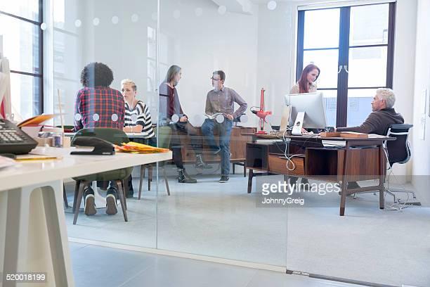 Busy modern office