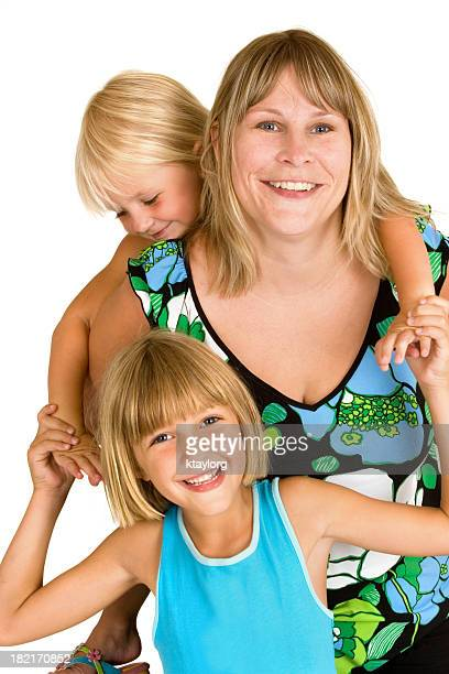 Busy Mom with children
