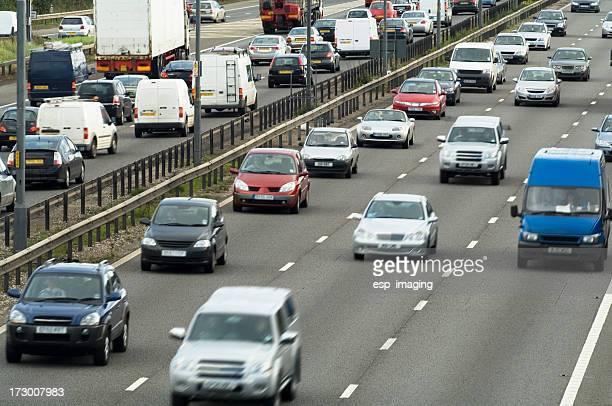 Busy motorway M6